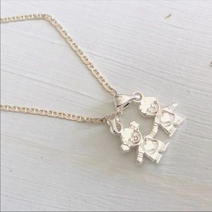 """Jewelry - 925 sterling silver boy/ girl pendant necklace 19"""""""